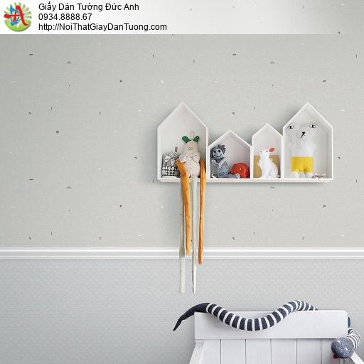 87414-1 vs 87413-2 Giấy dán tường màu xám, điểm chấm đen, Lohas 2021