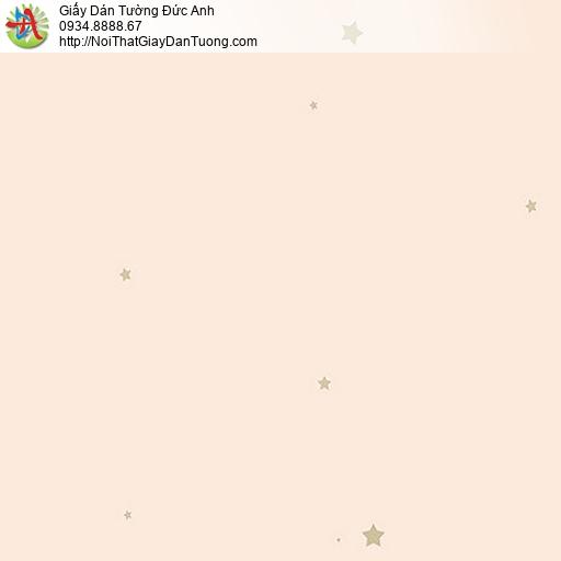 87415-1 Giấy dán tường màu hồng hình ngôi sao, những ngôi sao nhỏ vàng