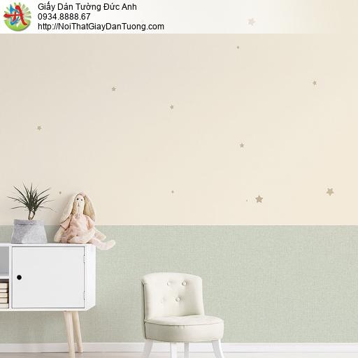 87415-2 Giấy dán tường những hình ngôi sao nhỏ màu hồng nhạt, vàng nhe