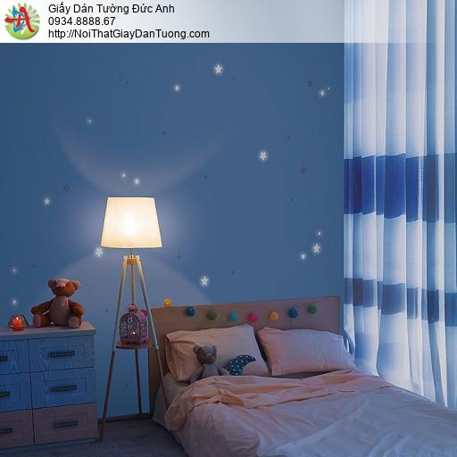 87415-3 giấy dán tường những ngôi sao nhỏ màu xanh đậm, Classic Blue