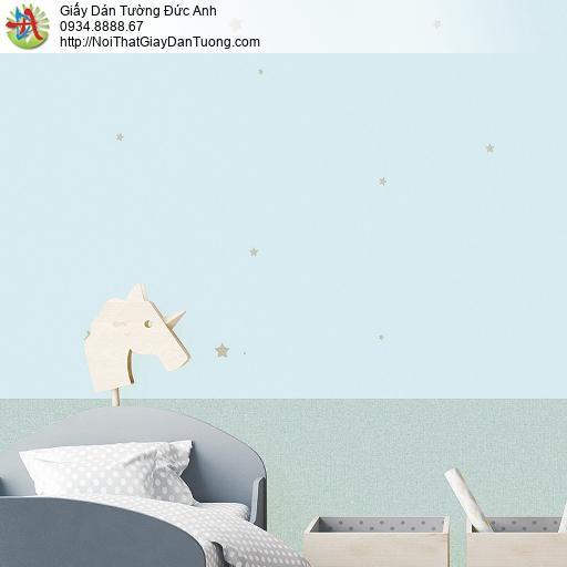 87415-3 Giấy dán tường những ngôi sao nhỏ màu xanh nhạt, xanh lơ