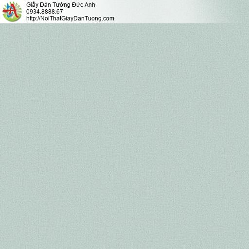 87416-3 Giấy dán tường gân trơn đơn giản màu xanh, vân nhỏ xanh nhạt