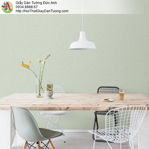 87417-3 giấy dán tường màu xanh cốm nhạt, xanh lá cây nhạt, gân chìm