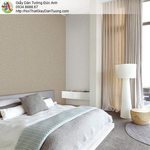 87421-7 Giấy dán tường đơn sắc màu nâu nhạt cho phòng khách, phòng ngủ