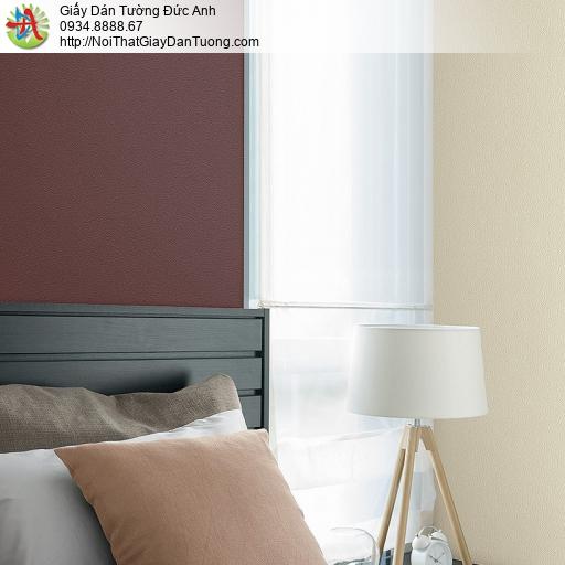 87423-7 Giấy dán tường trơn màu đỏ sẫm, màu đỏ đo, dùng cho điểm nhấn