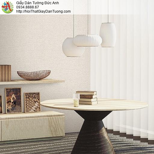 87424-3 Giấy dán tường dạng vải bố màu cam nhạt, giấy dán tường mới