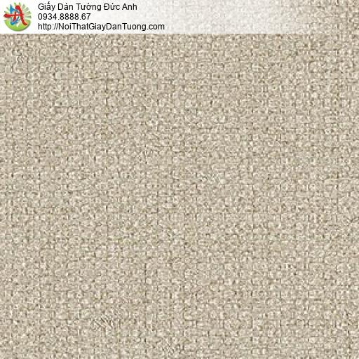 87424-4 Giấy dán tường hoa văn vải bố màu vàng xám, màu nâu nhạt