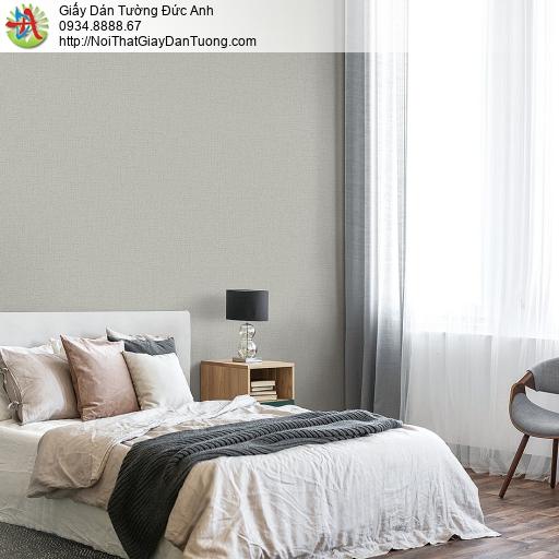 87426-4 Giấy dán tường gân màu xám nhạt, giấy dán tường phòng ngủ mới