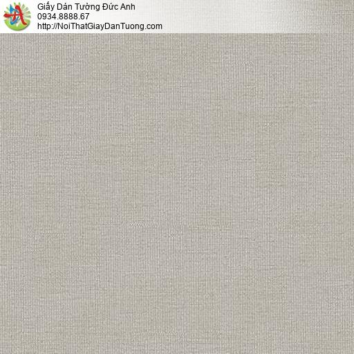 87427-5 Giấy dán tường gân trơn màu xám nhạt, mẫu giấy màu nâu nhạt