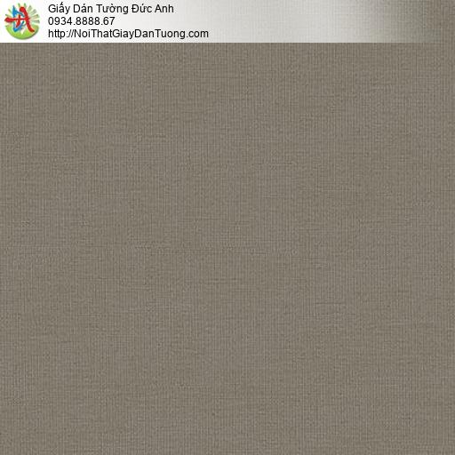 87427-6 Giấy dán tường gân nhỏ màu nâu, mẫu giấy màu nâu vàng