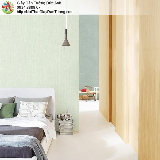 87427-7 Giấy dán tường trơn màu xanh nhạt, màu xanh lá cây nhạt