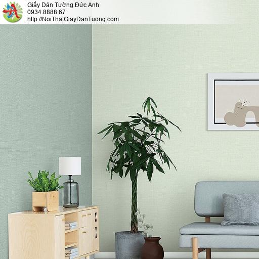 87427-8 Giấy dán tường trơn màu xanh lá, màu xanh lá cây nhạt Tphcm