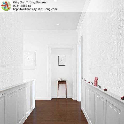 87428-1 Giấy dán tường gân ngang dọc màu trắng, giấy dán tường Tpchm