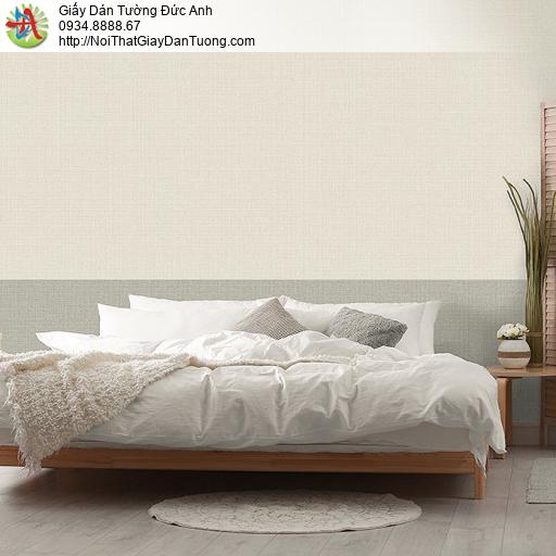 87428-6 Giấy dán tường gân trơn đơn sắc màu vàng nhạt