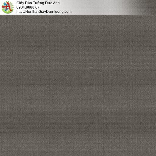 87429-10 Giấy dán tường màu nâu, giấy gân trơn màu nâu đất, điểm nhấn