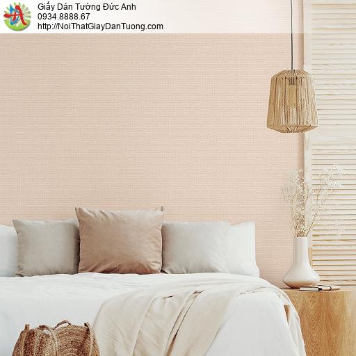 87429-4 Giấy dán tường màu hồng, mẫu giấy đơn sắc một màu đẹp nhất HCM