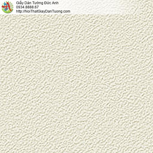 5535-6 Giấy dán tường gân nổi màu vàng nhạt,giấy gân trơn màu vàng kem