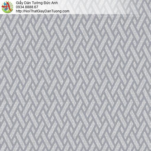 5542-10 Giấy dán tường họa tiết đan xéo màu xám, màu xám xanh