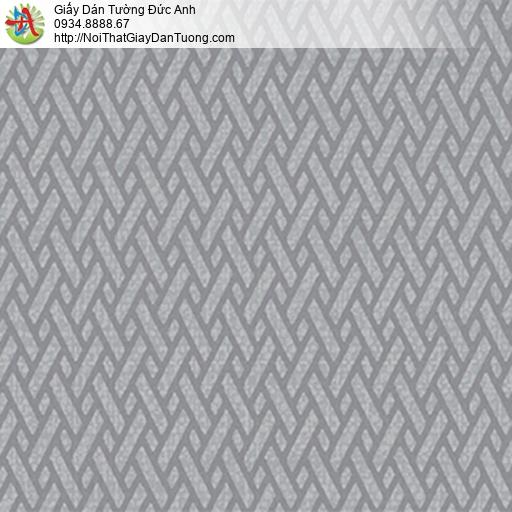 5542-11 Giấy dán tường họa tiết xéo, vân đan chéo màu xám đậm, màu tối
