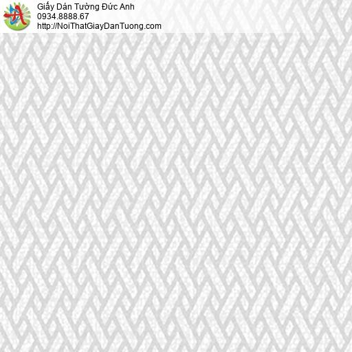 5542-8 Giấy dán tường họa tiết đan xéo màu trắng xám, màu xám trắng