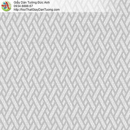 5542-9 Giấy dán tường họa tiết đan xéo màu xám nhạt, phong cách mới