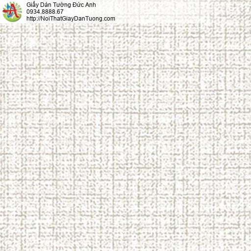 5550-1 Giấy dán tường gân nổi ngang dọc màu trắng, giấy vân nổi lớn