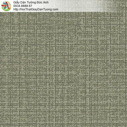 5550-4 Giấy dán tường gân lớn màu xanh rêu, giấy màu xanh lá cây đậm