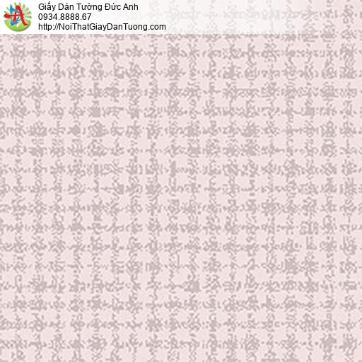 5552-2 Giấy dán tường màu hồng tím, màu tím hồng họa tiết hình vuông