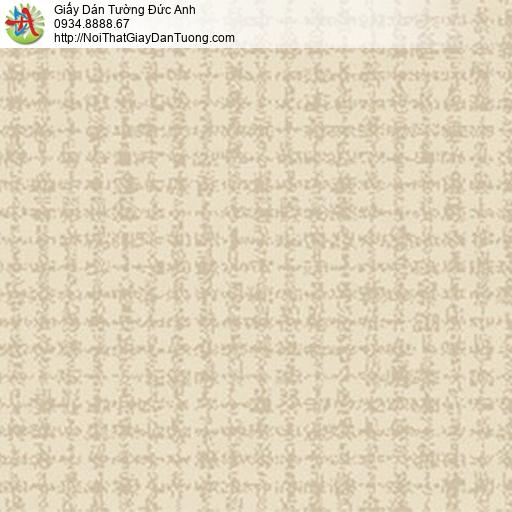 5552-6 Giấy dán tường họa tiết hình ô vuông màu vàng nhạt,màu vàng kem