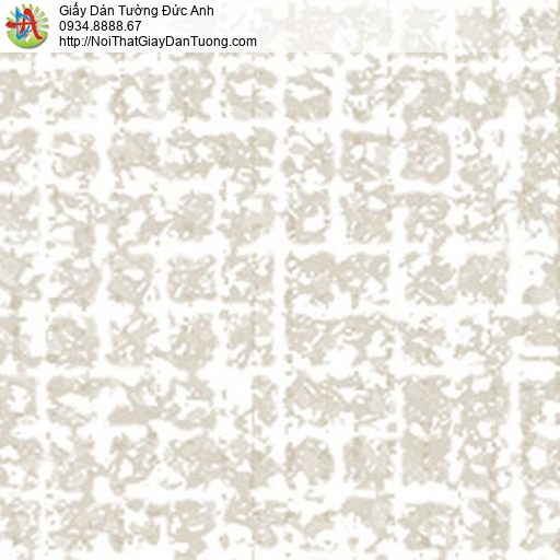 5553-1 Giấy dán tường họa tiết ô vuông màu trắng xám, màu vàng kem