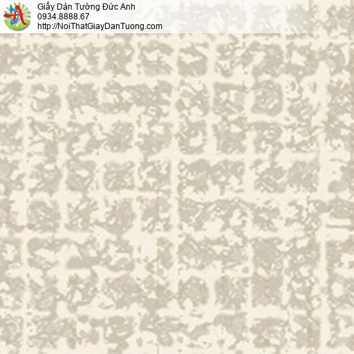5553-2 Giấy dán tường họa tiết hình vuông màu vàng nhạt, vàng kem