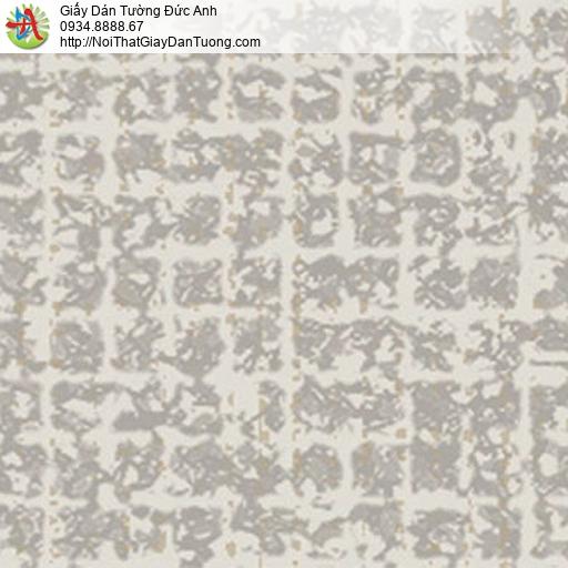 5553-3 Giấy dán tường màu xám, họa tiết ô vuông màu nâu nhạt hiện đại