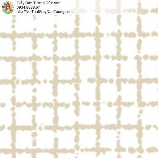 5554-2 Giấy dán tường họa tiết ô vuông màu vàng nền màu trắng, Quận 6