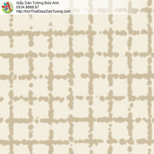 5554-3 Giấy dán tường màu vàng nhạt họa tiết kẻ ô vuông tại Bình Chánh