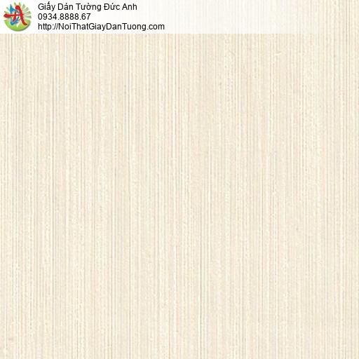 M80031 Giấy dán tường kẻ sọc nhỏ màu kem, giấy sọc nhuyễn nhỏ đẹp 2020