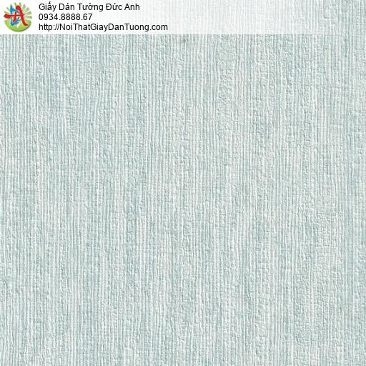 M80058 Giấy dán tường gân to màu xanh nhạt, giây dán tường giá rẻ