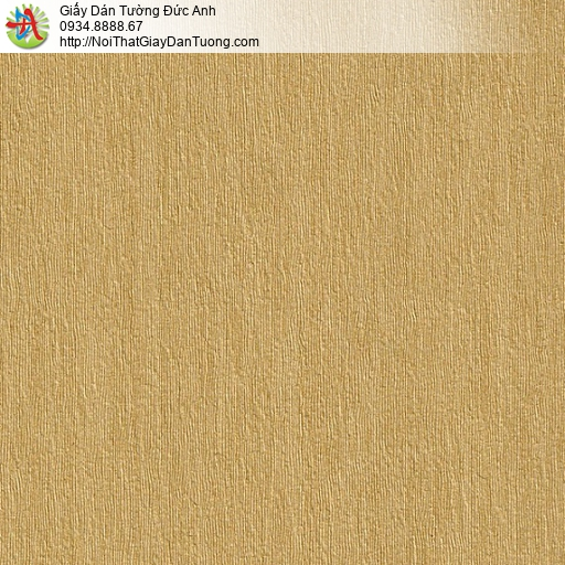M80068 Giấy dán tường gân màu vàng đồng, giấy màu vàng điểm nhấn đẹp