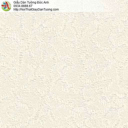 M80071 Giấy dán tường hoa văn chìm màu kem, giấy cho căn hộ chung cư