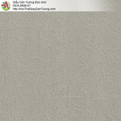 M80076 Giấy dán tường vân ẩn, gân chìm màu nâu nhạt, giấy điểm nhấn
