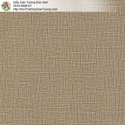 M80086 Giấy dán tường gân màu vàng cam, giấy màu nâu sẫm