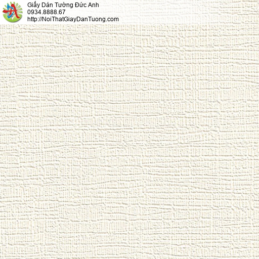 M80092 Giấy dán tường dạng gân màu kem, màu trắng kem ở Bình Chánh