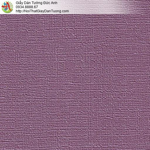 M80097 Giấy dán tường dạng gân lớn màu tím, giấy màu tím đẹp 2020