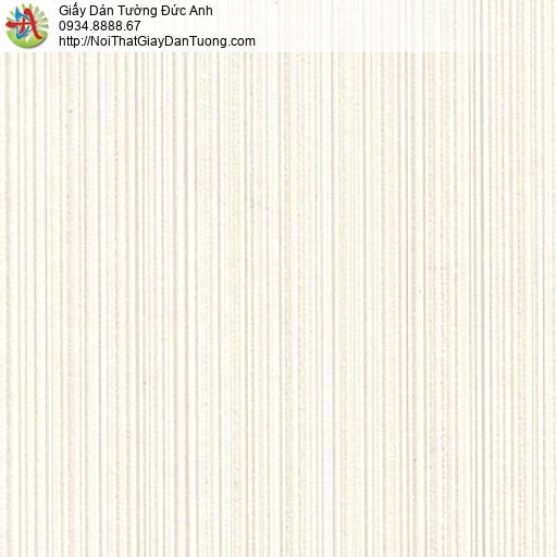 M80101 Giấy dán tường sọc nhỏ nhuyễn màu kem, giấy kẻ sọc nhỏ màu kem