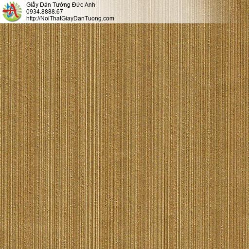 M80108 Giấy dán tường kẻ sọc nhỏ nhuyễn màu đồng, giấy màu vàng đậm