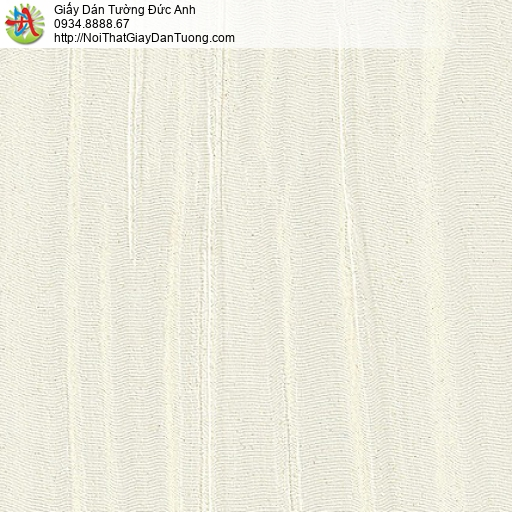 M80111 Giấy dán tường gân to, gân lớn màu vàng kem nhạt