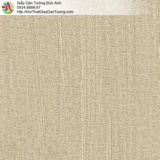 M80113 Giấy dán tường gân lớn màu nâu nhạt, mẫu giấy màu vàng đất
