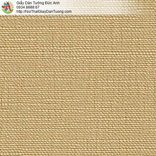 M800811 Giấy dán tường màu vàng, giấy dán tường gân trơn