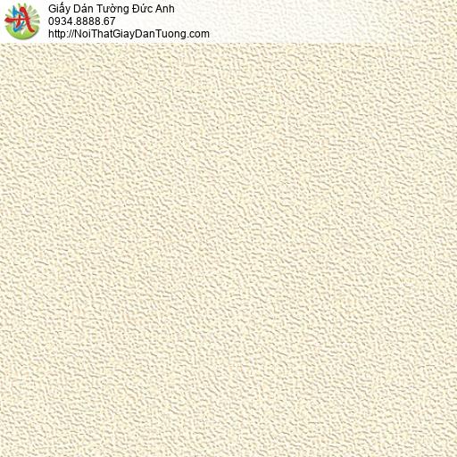 M80131 Giấy dán tường màu vàng nhạt, giấy gân màu vàng kem dạng gân