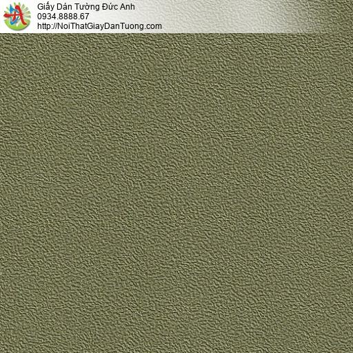 M80135 Giấy dán tường màu xanh rêu, giấy gân xanh rêu đẹp mới nhất