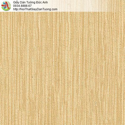 M80144 Giấy dán tường màu vàng, giấy gân to mới nhất 2020 hiện đại